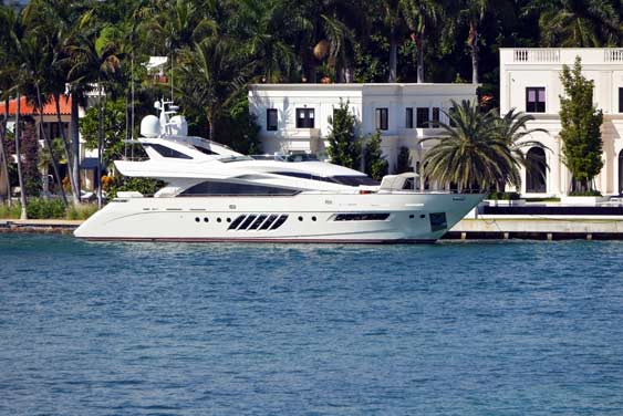 Viewing star island mansion while on yacht